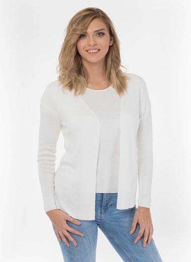 Silk and Cashmere Bluz Beyaz